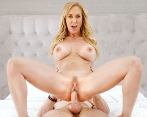 Massage for this hot blonde mom turns into a hardcore creampie sex session