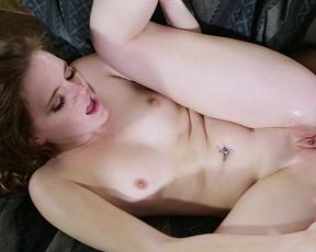 Hot guy screws his slutty girlfriend's juicy twat making her moan loudly