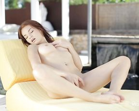 This naked redhead masturbating will make you want to fuck her instantly