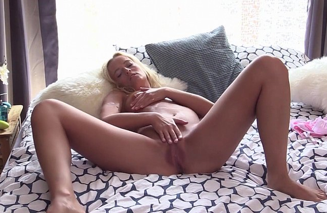 Strong masturbation solo special for a naked blonde beauty with incredible forms