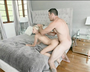 Hot little blonde gets her tight pussy destroyed in all positions