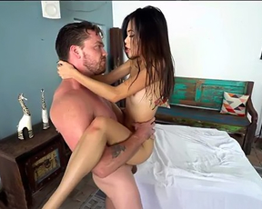The smallest young sexy naked girl gets fucked by a big dick