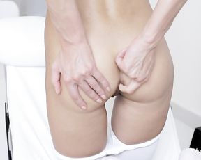 Teen loves to pose assets in sensual scenes while undulating and touching