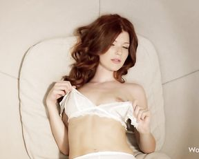 You will cum in minutes watching this redhead bitch touching herself and masturbating