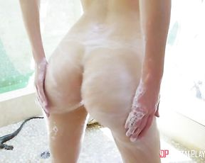 Blonde naked girl sure needs the tasty dong up her greedy little cunt