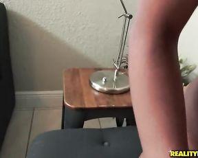 Naked beauty enjoys cash for a session of hardcore POV shower sex